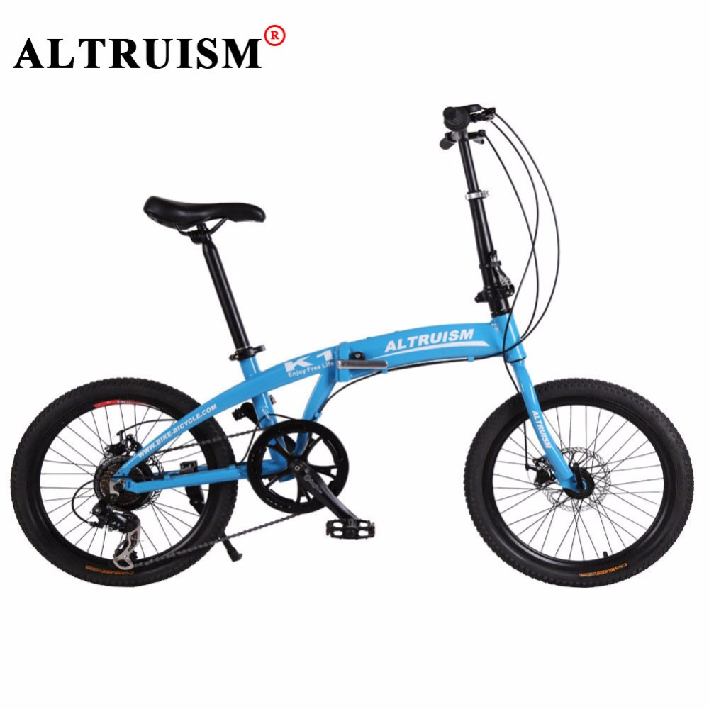 Altruism K1 Folding Bike For Kid's Bicycle 7 Speed 20 inch Aluminum bicicleta mountain bikes Double Disc Brake Road Bicycles altruism x6 folding bicycle 21 speed 26inch steel mountain bike completion for male bicicleta for montanha red blue black