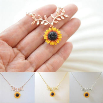 Mini Sunflower Pendant Necklace