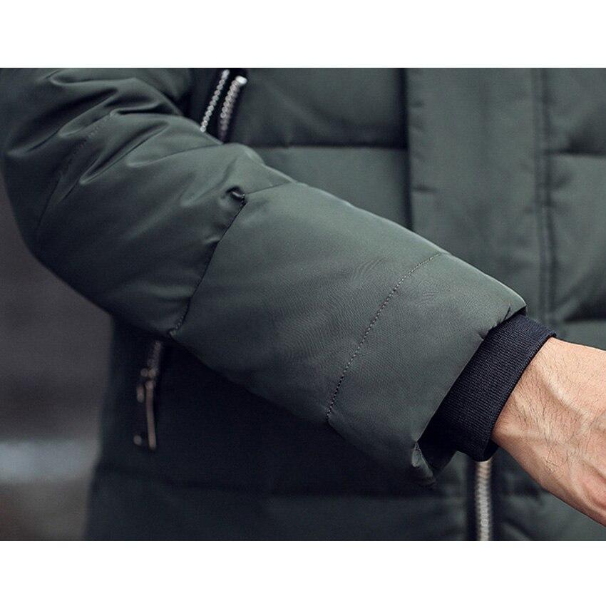 Livraison gratuite hommes doudoune fourrure col manteau élégant hiver veste hommes longue imperméable Parka vers le bas manteau pour homme 200hfx - 5