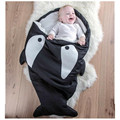 High Quality Newborn Cotton Shark Starfish Sleeping Bag Winter Stroller Bed Swaddle Blanket Wrap Bedding Cute Baby Sleeping Bags