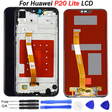 2280*1080 Original Quality LCD With Frame For HUAWEI P20 Lite Lcd Display Screen For HUAWEI P20 Lite ANE-LX1 ANE-LX3 Nova 3e for huawei nova 3e case aluminum metal bumper case for huawei p20 lite dual color frame for huawei nova 3e case cover 5 84