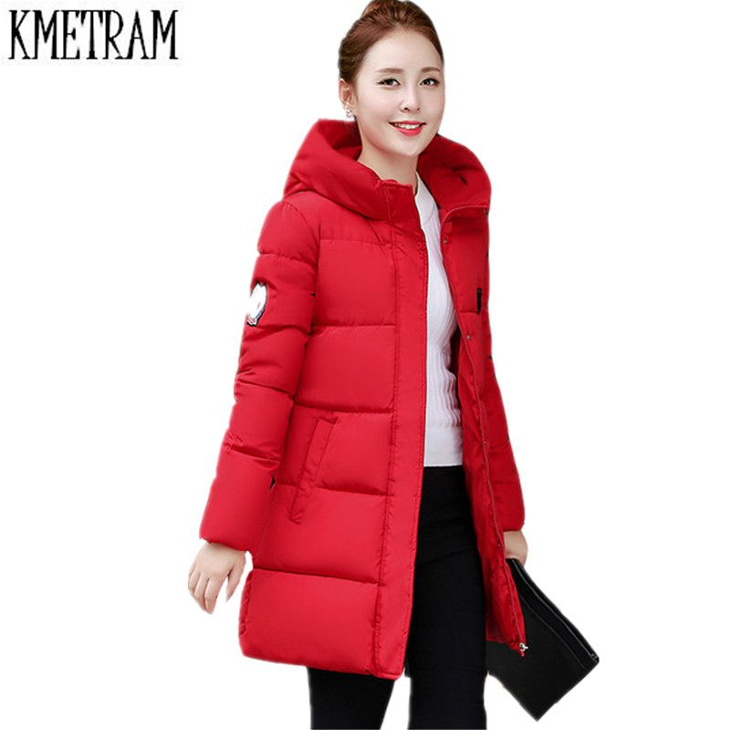 2019 New Winter Jacket Women Hooded Thicken Coat Female Fashion Warm Outwear Down Cotton-Padded Long Wadded Jacket Coat Parka