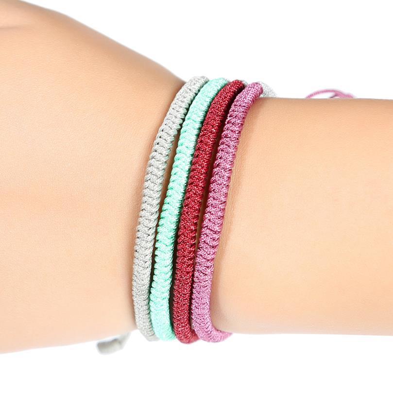 1pc Handmade Tibetan Buddhist Good Lucky Knots Rope Charm Bracelets Bangles For Women Men Bracelet Gift Jewelry in Strand Bracelets from Jewelry Accessories