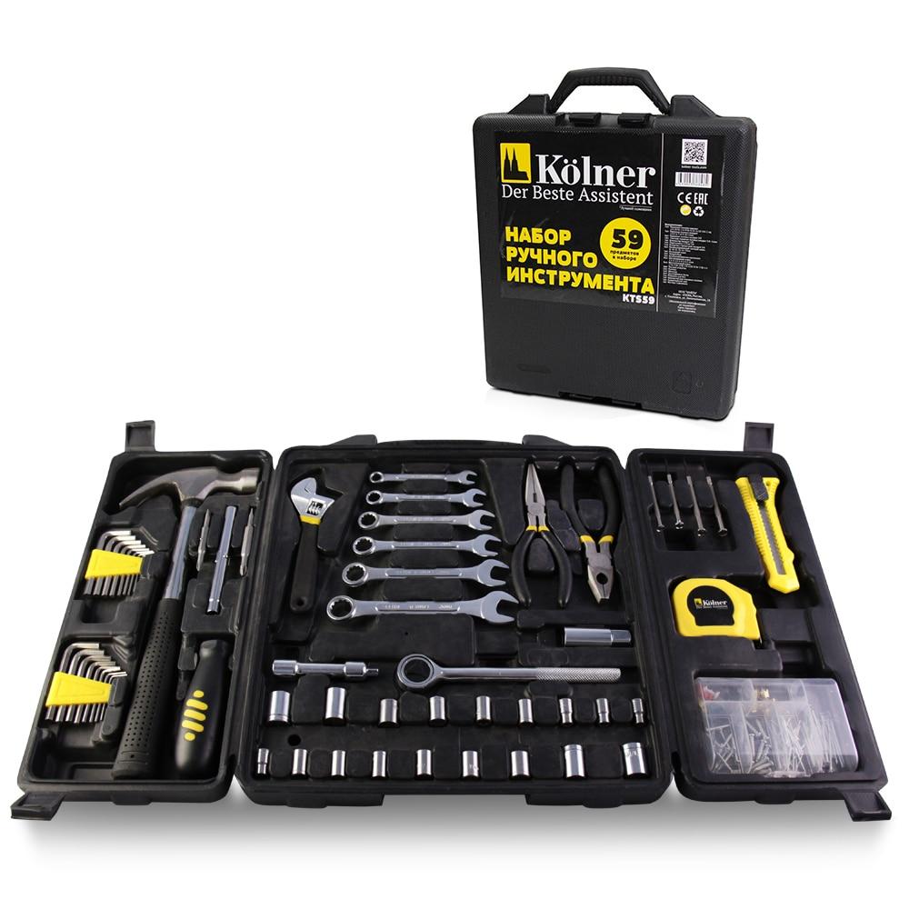 Set of hand tools Kolner KTS 59 newacalox multitool pliers pocket knife screwdriver set kit adjustable wrench jaw spanner repair survival hand multi tools mini