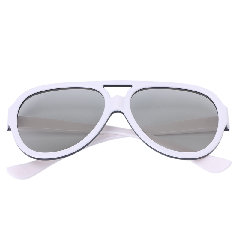 OOTDTY Universal Circular Passive Polarized 3D Glasses For TV Real 3D Cinema 0.42mm