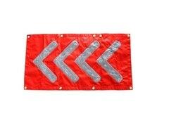 26 cm * 48 cm faltbare LED verkehrs beratung standard PVC richtungspfeil warnleuchten Magnetische suctionLED wegweiser