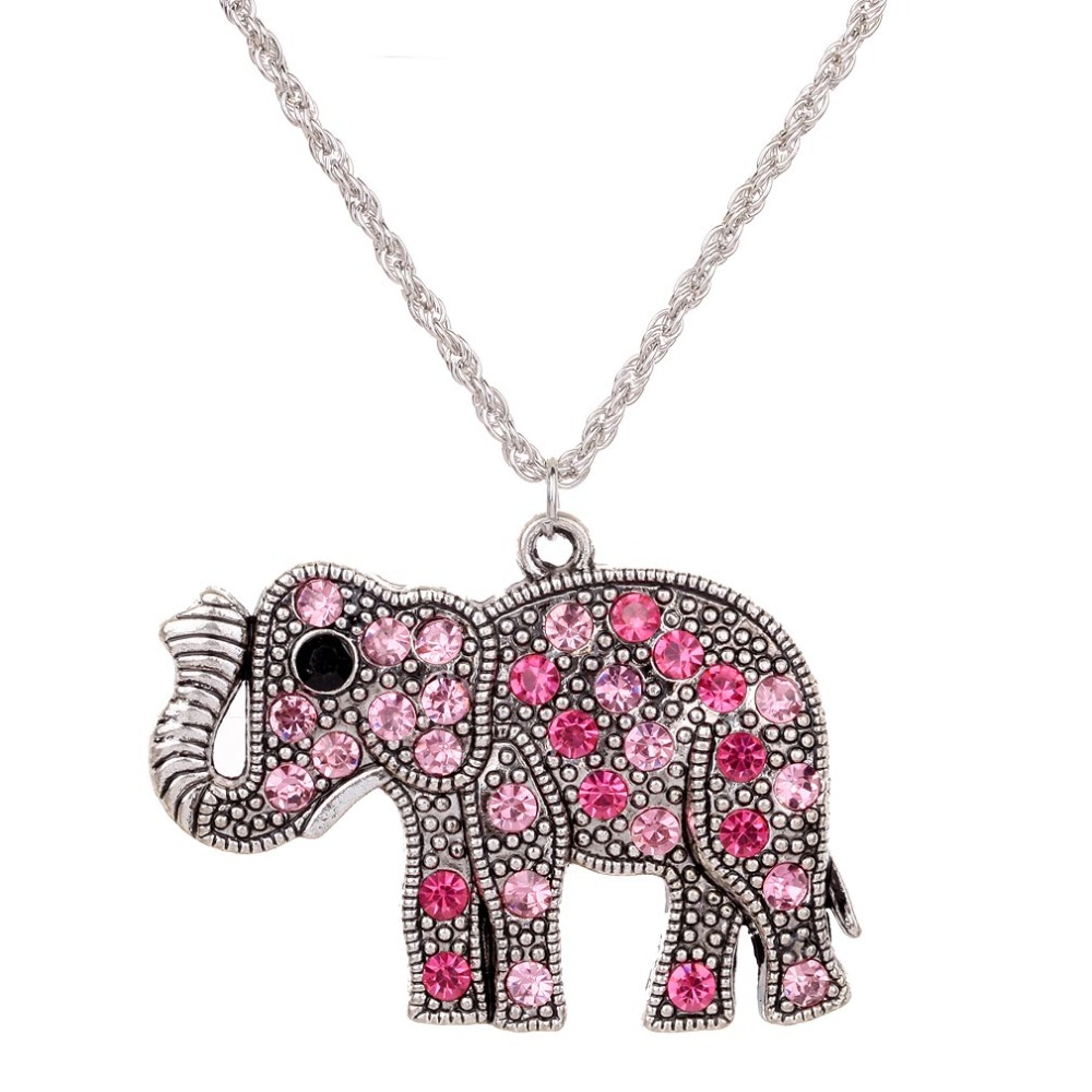 Sweater Chain Necklace Elephant Design