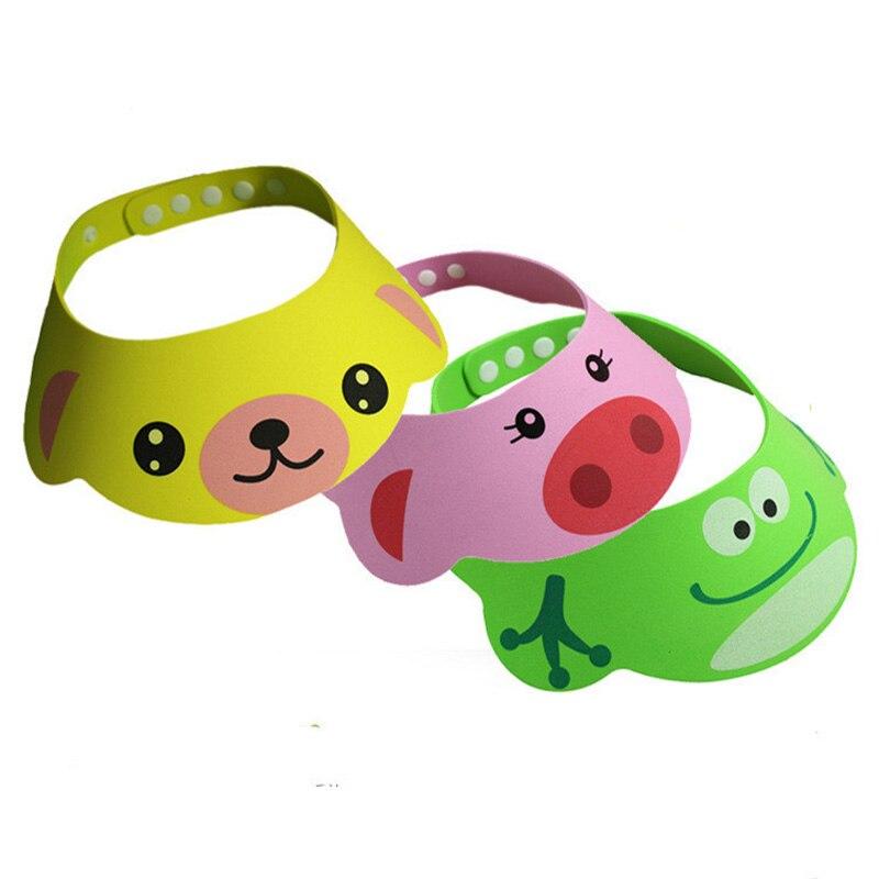 1 pc Adjustable Baby Hat Toddler Kids Shampoo Bathing Shower Cap Wash Hair Shield Direct Visor Caps For Children Baby Care