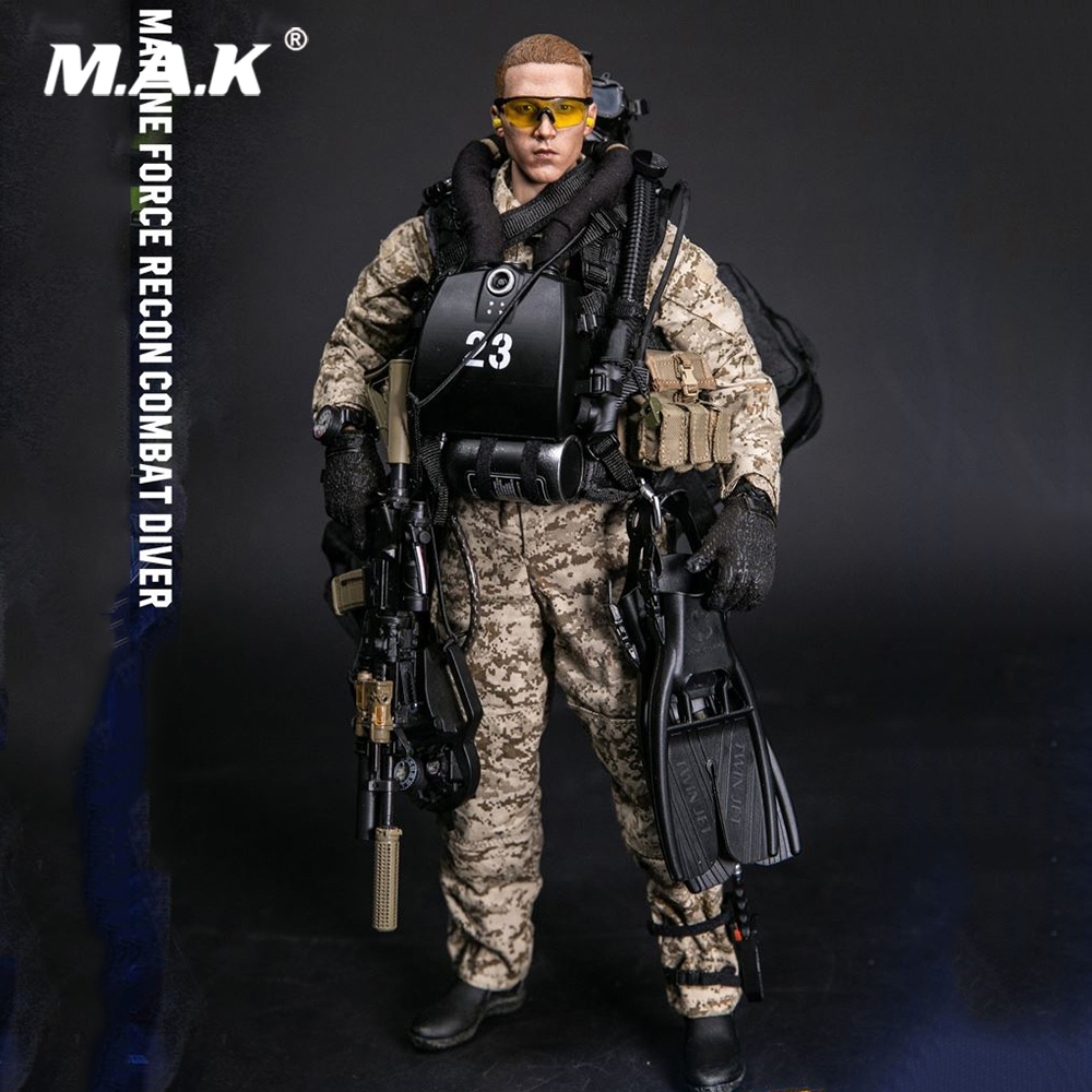 1/6 Scale Collectible 1/6 MARINE FORCE RECON COMBAT DIVER DESERT MARPAT Version Model for Fans Collection Gifts1/6 Scale Collectible 1/6 MARINE FORCE RECON COMBAT DIVER DESERT MARPAT Version Model for Fans Collection Gifts
