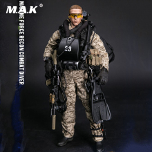 1/6 Scale Collectible MARINE FORCE RECON COMBAT DIVER DESERT MARPAT Version Model for Fans Collection Gifts