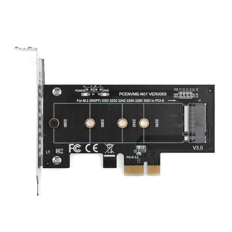 Nvme SSD M2 PCIE 1x Adapter PCIE do M2 Adapter M.2 nvme SSD do pci express X1 karty Adapter riser M klucz do 2230-2280 M2 SSD