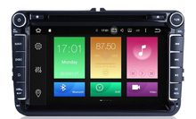 Android 8.1 Quad Core Car DVD GPS Navi for Volkswagen VW Skoda Octavia golf 5 6 touran passat B6 jetta polo tiguan player audio(China)