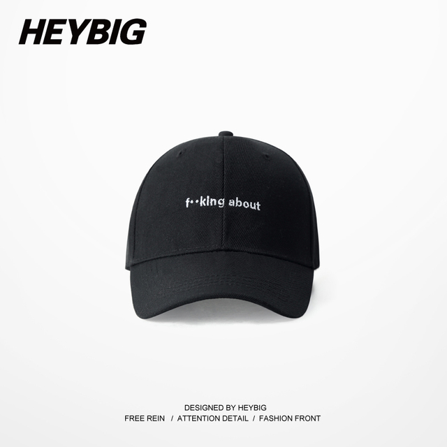 Fucking about Rock HEYBIG Dad caps Adjustable Hiphop Baseball cap Hippest Rap streetwear Young Fashion Carton Packing
