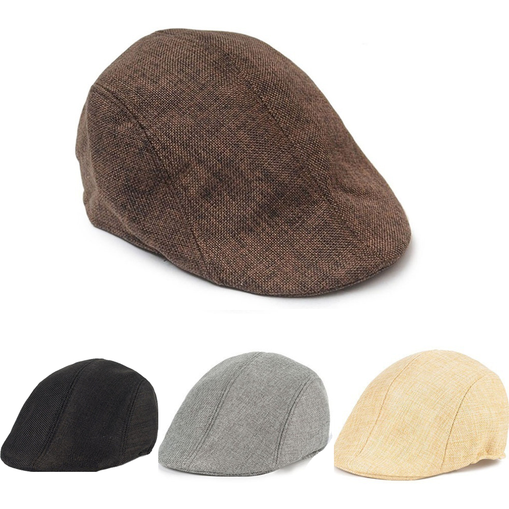 946a6ef51b1 Male Beret Winter Warm Duckbill Cap Ivy Cap Golf Driving Sun Flat Cabbie  Newsboy Hat peaky blinder Unisex Berets French