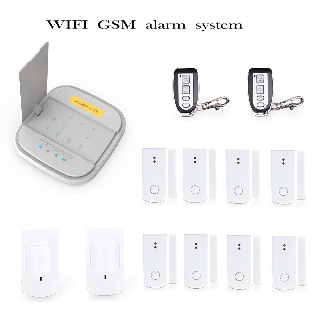 Free shiping WIFI  GSM alarm  Wireless Alarm System Accessories for  WiFi GSM Smart Home Burglar Alarm System wireless smoke fire detector for wireless for touch keypad panel wifi gsm home security burglar voice alarm system