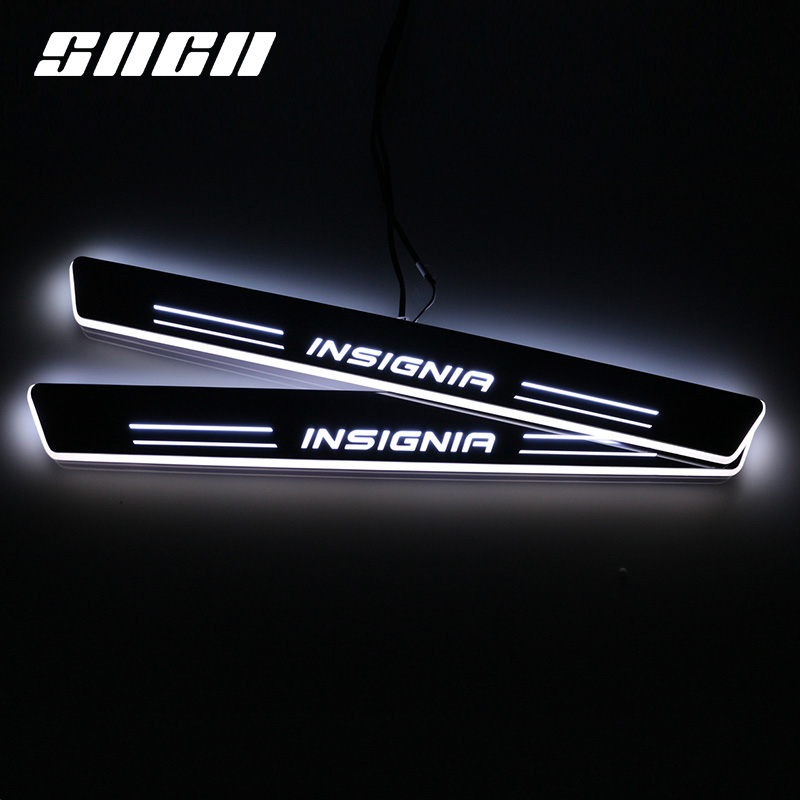 SNCN Trim Pedal LED Car Light Door Sill Scuff Plate Pathway Dynamic Streamer Welcome Lamp For Opel Insignia 2015 2017 2018