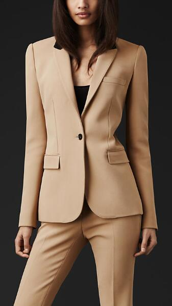 11-2  New Custom made Formal Women Suit Office Ladies Business Suit Beige Professional Work Wear Clothes