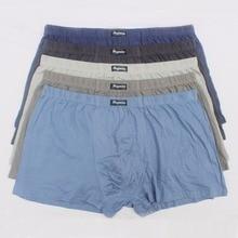 5 teile/los Große lose männlichen baumwolle Unterwäsche Boxer shorts hohe taille höschen atmungsaktiv fett gürtel Große yards männer plus größe