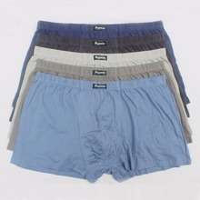 5pcs/lot Large loose male cotton Underwears Boxer shorts high waist panties breathable fat belts Big yards mens plus size