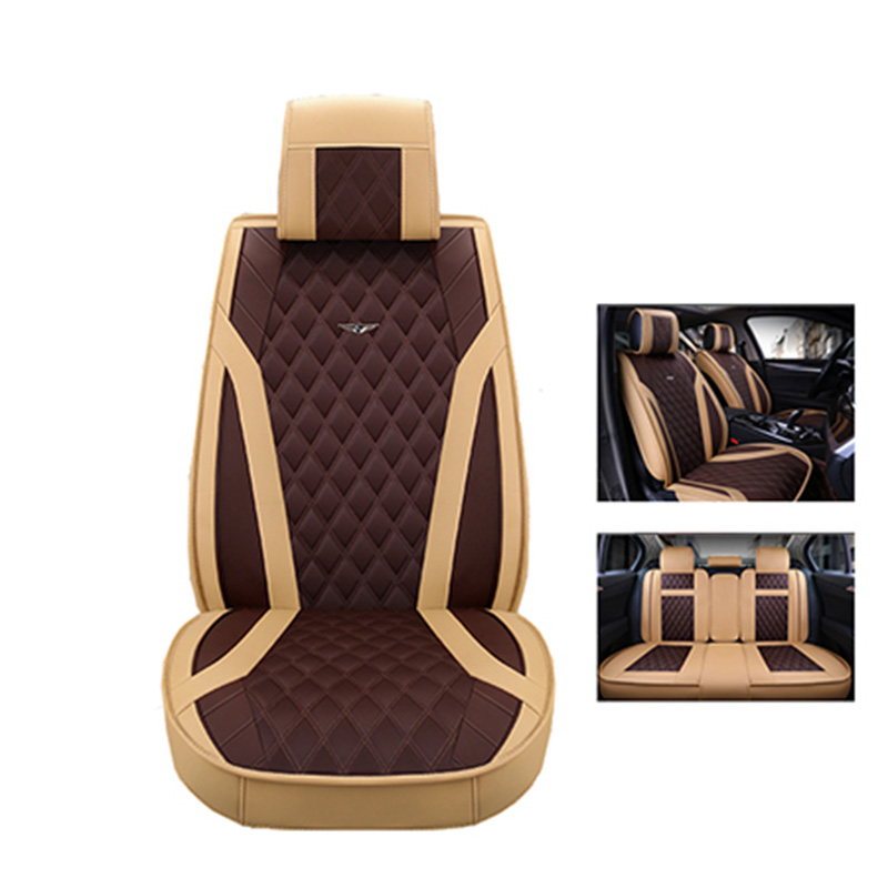 2018 New luxury Automobiles Seat Covers 5 car seat cushion for Volkswagen vw passat polo golf tiguan jetta touareg auto styling brand new styling luxury leather 5 color 3d car seat covers front