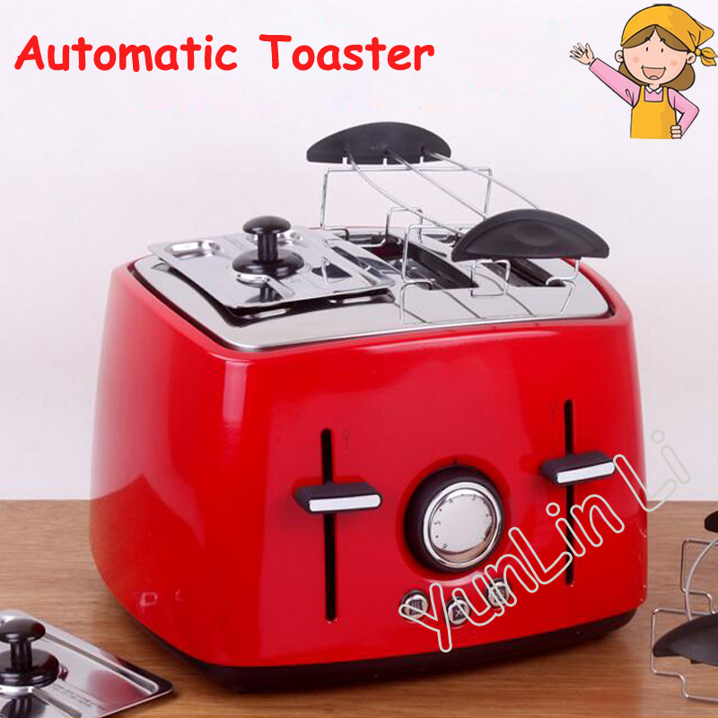 Household Automatic Toaster Multi-function 4 Slot Toast Stainless Steel Breakfast Machine 6524