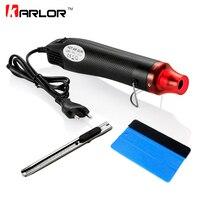 3pcs Set 220V 300W Electric Hot Air Heat Gun EU Plug Car Scraper Squeegee Vinyl Cutter