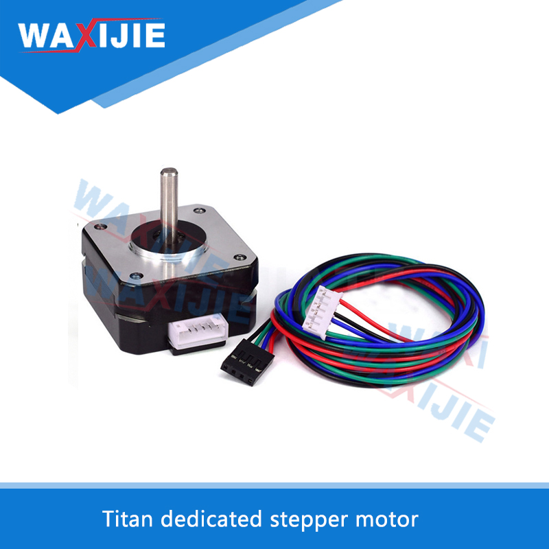 WAXIJIE 3D Printer Parts Titan Extruder Stepper Motor 4 lead Nema 17 22mm 42 Motor 42 42 23mm For J head Bowden in 3D Printer Parts Accessories from Computer Office