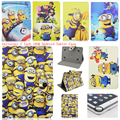 despicable me 2 minion minions Universal 7 inch Case Magnetic Buckle Flip Cover Fit 7 inch Android Tablet Pad & Ipad Mini 1/2/3