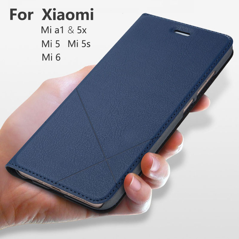 Hand Made For Xiaomi Mi 9T Pro 9 8 lite SE A2 A1 6X lite 5X 5S Mi 5 6 Leather Case For Mi Max <font><b>3</b></font> <font><b>2</b></font> Flip Cover Card Slot Stand image