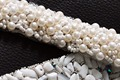 TOPQUEEN S204A Free shipping Stock DIY Formal Wedding  pearls Beaded Applique Evening Dresses Trimming
