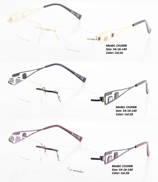 69a22c70f Atacado maravilha Eye Mulheres Óculos Sem Aro Moldura Miopia Óculos  Armações de Metal Óptica Óculos Óculos