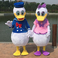High quality adult size Donald Duck Cartoon Mascot Fancy Party Dress Free Shipping Adult Costume