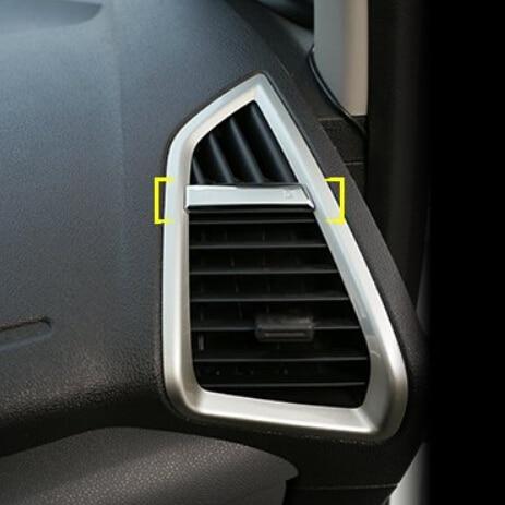 Prix pour Car styling 2 Pcs/ensemble ABS Chrome climatisation Vent Décoratif Paillettes autocollant cas pour ford Ecosport 2013 2014-2016