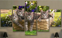 Diy Diamond Painting Cats Basket 3D Rhinestone Cross Stitch Kits Full Square Diamond Embroidery Icons Needlework