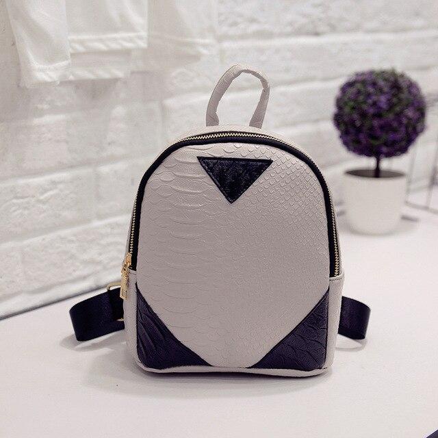Для женщин Рюкзаки Мода из искусственной кожи для девочек сумка крокодил узор небольшой рюкзак тиснением школьные сумки T1585