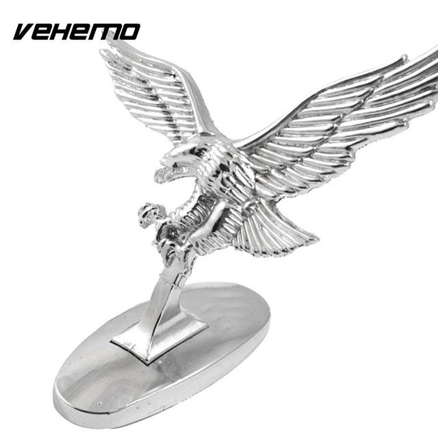 Vehemo Flying Eagle Car Logo Stickers Auto Motorkap Cover Decals Emblems Decoration