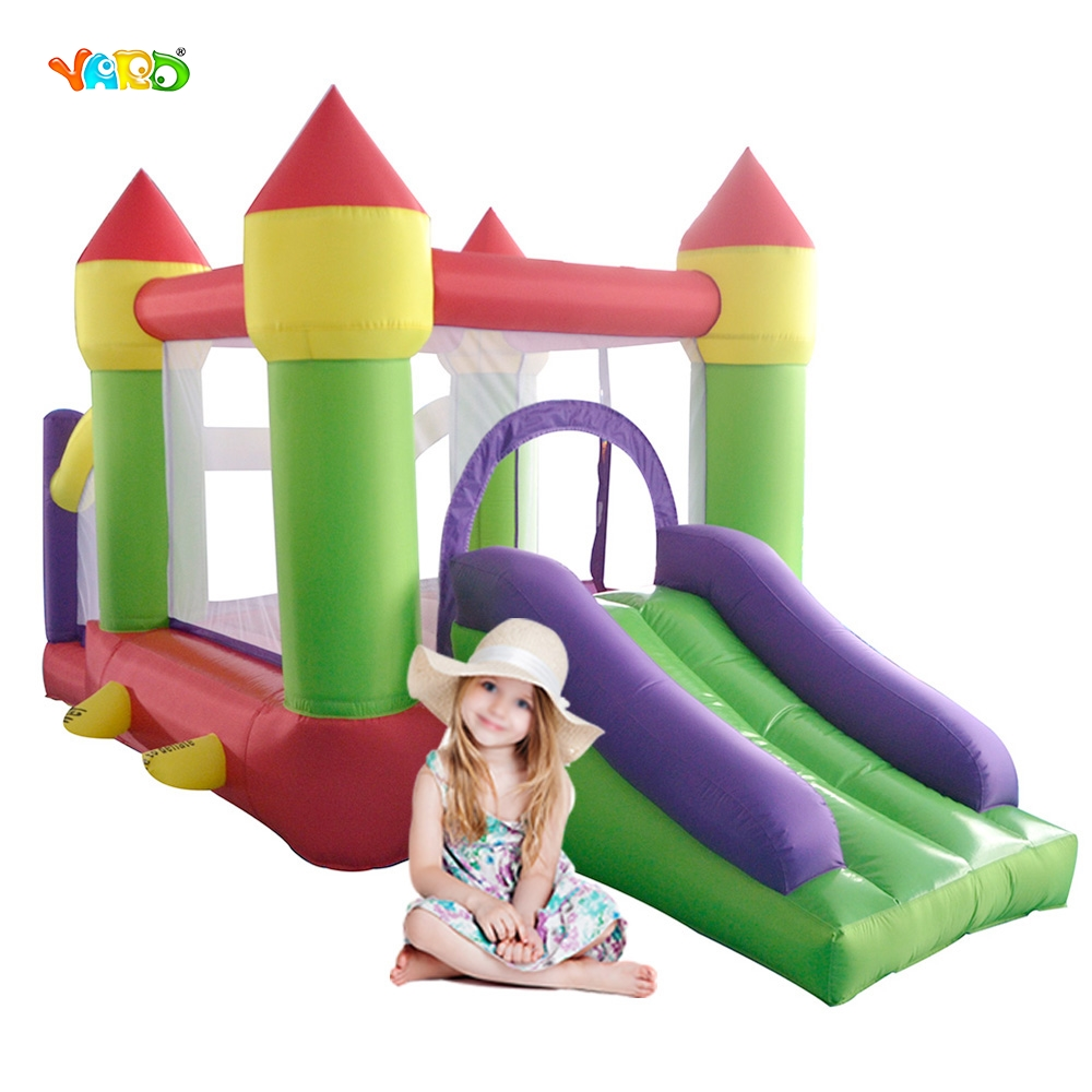 Bouncy Castle Funny Game For Children Inflatable Inflatable Bouncer Trampoline For Kids Juego Inflable Free Shipping To Hot Area children funny lucky game gadget joke toy projectile fun