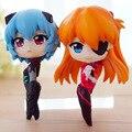 Japonés q-versión de dibujos animados PVC modelo de juguete EVA Neon Genesis Evangelion Scen figura 8 CM AYANAMI REI y SOURYU ASUKA LANGLE BDFG6067
