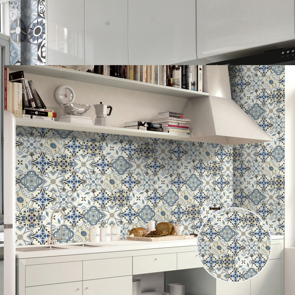 kitchen wall tile stickers 0 2x5m self adhesive wall sticker kitchen proof 6449