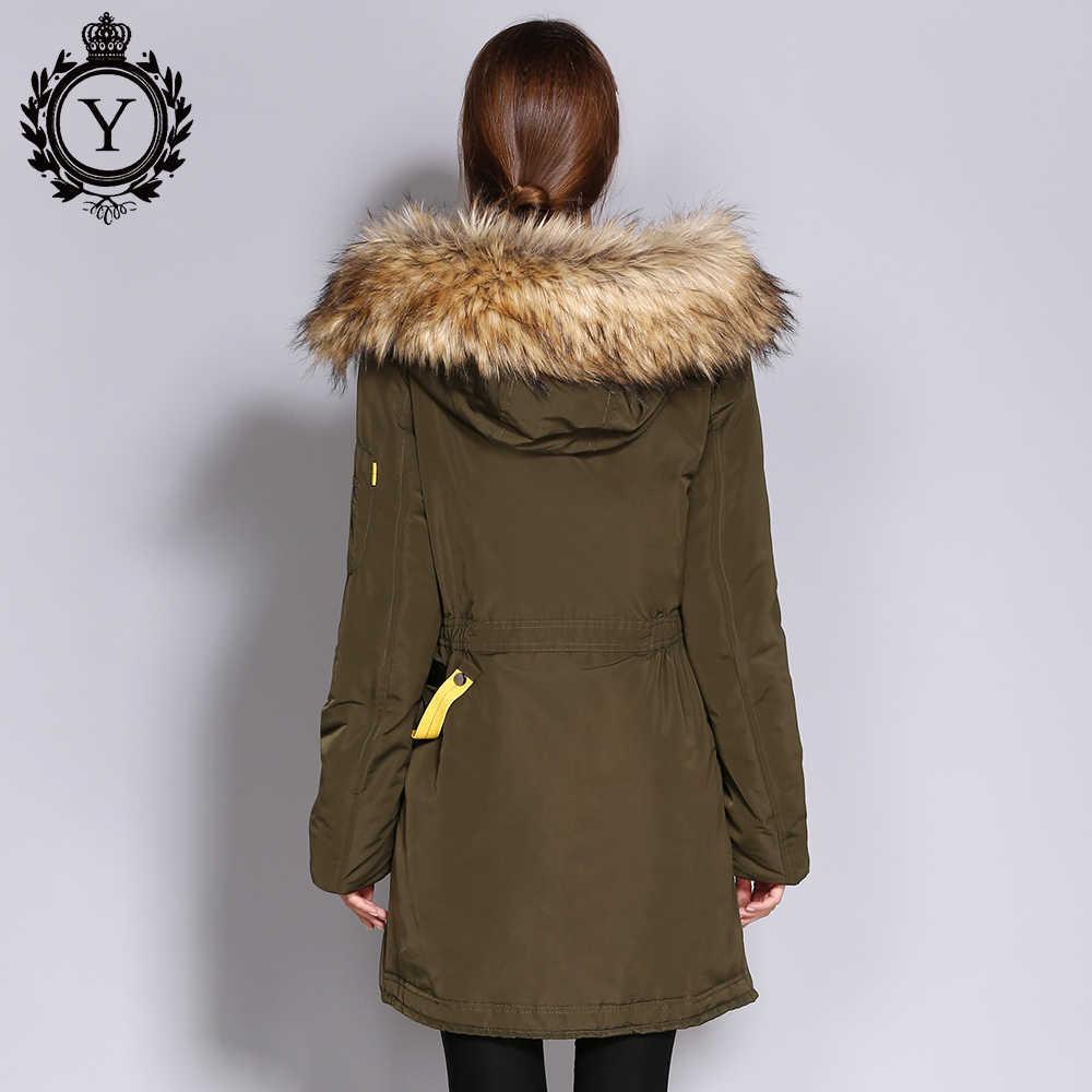 COUTUDI נשים עבה חורף מעיל גדול פו פרווה סלעית חם Parka מעילי נקבה מעיל רוח מעיל מעיל ארוך נשים של מעיילי