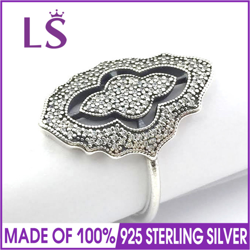 LS Hot Sale High Quality Real 925 Sterling Silver Sparking Lace with Clear CZ Ring For Women Wedding Rings Fine Jewelry NLS Hot Sale High Quality Real 925 Sterling Silver Sparking Lace with Clear CZ Ring For Women Wedding Rings Fine Jewelry N