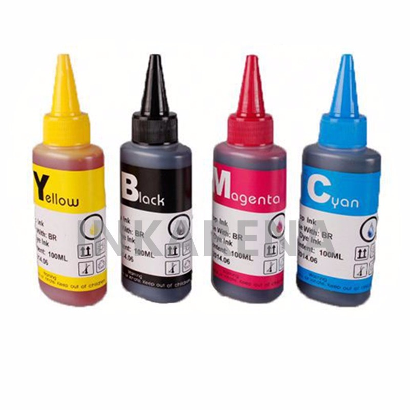 100ml Refill Dye Ink T129 T1291 T1295 for Epson SX525WD SX620FW WorkForce WF 7015 WF 7515