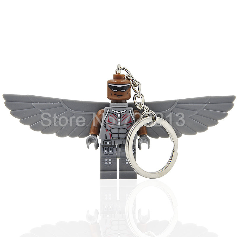 Super Hero Girl Legoingly Keychain Figure Ant-Man Lois Lane Wasp Cyborg Collector Bizarro Hawkman Ultron Building Blocks Toys