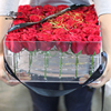 Transparent Crystal High End Acrylic Flowers Box Bouquets Rose Square Flower Gift Box