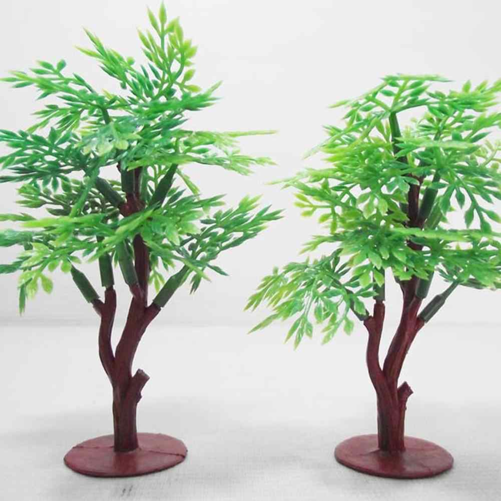 LeadingStar 10cm Vivid Simulation Green Pagoda Tree Assemble Model Railway Park Layout Scenery Dollhouse Decor zk 30
