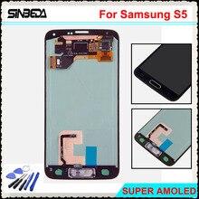 Купить онлайн Sinbeda 5.1 «ЖК-дисплей для Samsung Galaxy S5 i9600 G900F G900M G9001 ЖК-дисплей Экран Дисплей + Сенсорный экран планшета Ассамблеи с боты