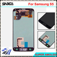 Sinbeda 5 1 LCD For Samsung Galaxy S5 I9600 G900F G900M G9001 LCD Screen Display Touch