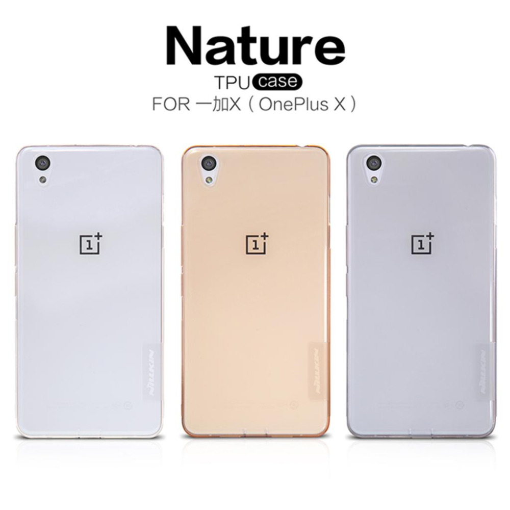 <font><b>OnePlus</b></font> X <font><b>Case</b></font> Nillkin Nature Series Soft Back Cover TPU <font><b>Case</b></font> For <font><b>OnePlus</b></font> X / <font><b>E1001</b></font> With packaging image