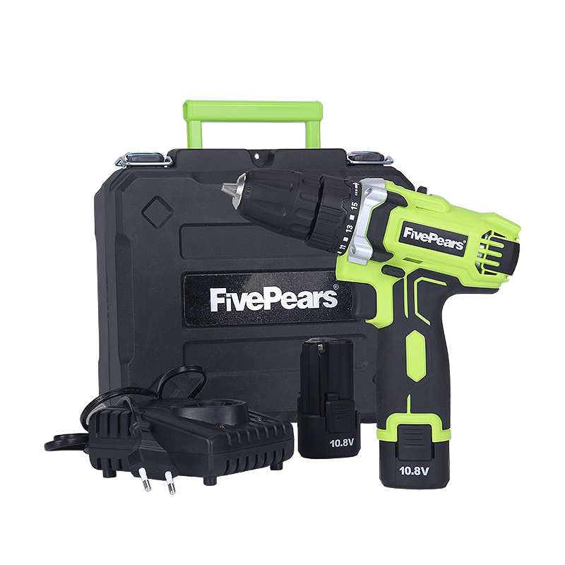 Fivepears 10.8-Volt DC Lithium-Ion Battery 10mm 2-Speed Electric Cordless Drill Mini ScrewdriverFivepears 10.8-Volt DC Lithium-Ion Battery 10mm 2-Speed Electric Cordless Drill Mini Screwdriver