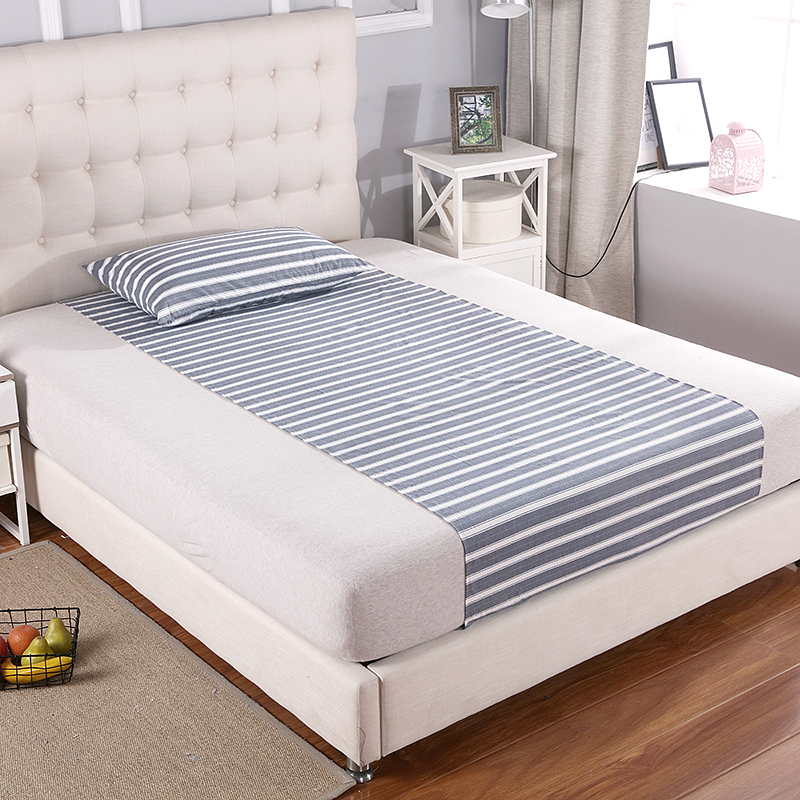 New Arrial EARTHING Half bed Sheet (90 x 270cm) with 1 pillow case Silver Antimicrobial Fabric Conductive Grounding kit set